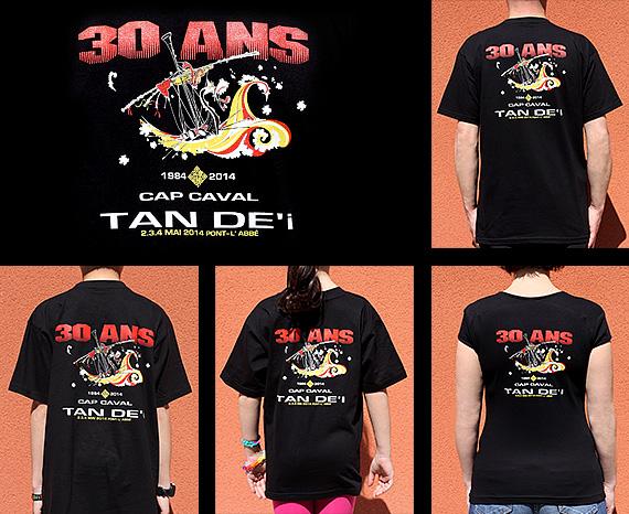 Tee-shirt 30 ans du bagad Cap caval